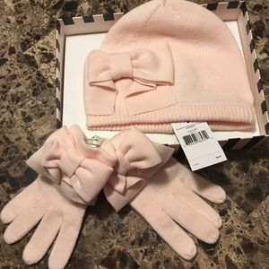 Kate Spade NY Dorothy Bow Beanie Hat & Glove set